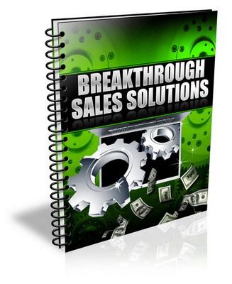 Product picture Breakthrough Sales Solutions - Maximize Your Profits